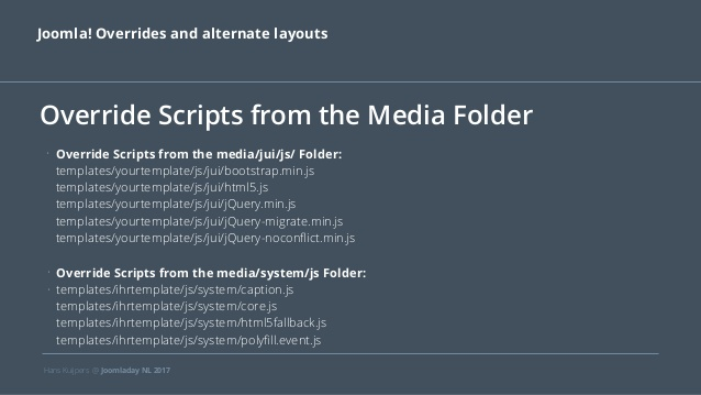 JD17NL Joomla! Overrides and alternate layouts