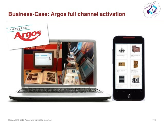 Copyright © 2013 Accenture All rights reserved. 16Business-Case: Argos full channel activation
