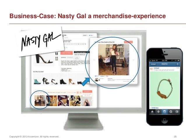 Copyright © 2013 Accenture All rights reserved. 25Business-Case: Nasty Gal a merchandise-experience