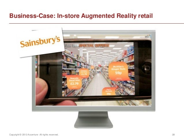 Copyright © 2013 Accenture All rights reserved. 28Business-Case: In-store Augmented Reality retail