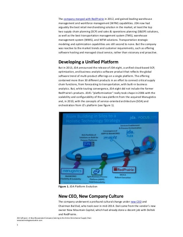 JDA Software a new rejuvenated company catering to the entire omnichannelsupply chain Slide 3