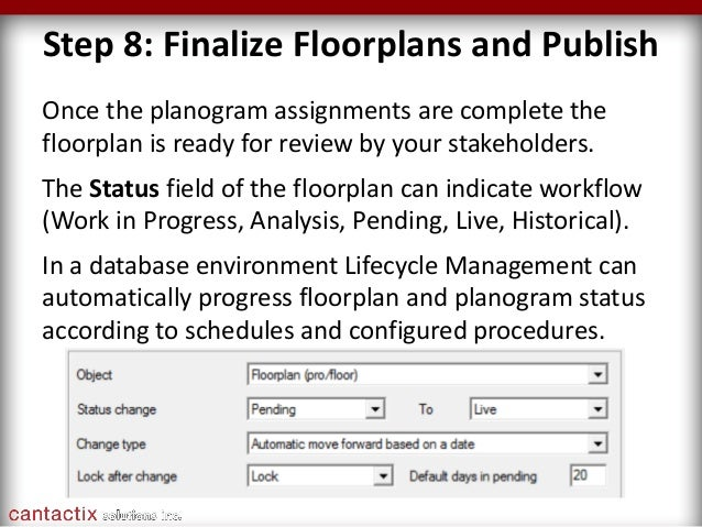 JDA Floor Planning webinar by Cantactix - Every Square Foot Matters