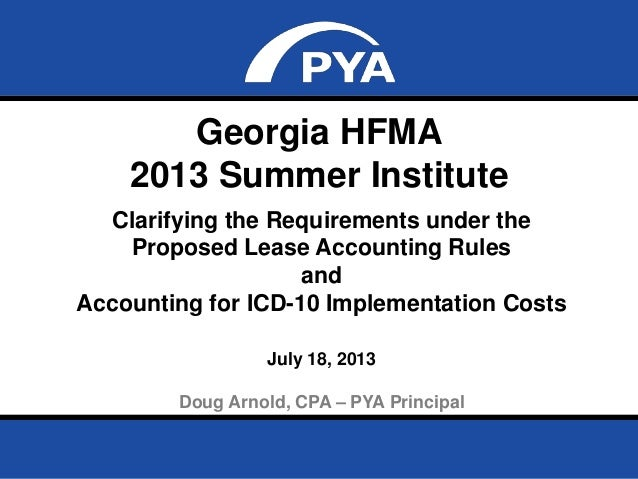 Page 0July 18, 2013 Prepared for Georgia HFMA Summer Institute Georgia HFMA 2013 Summer Institute Clarifying the Requireme...