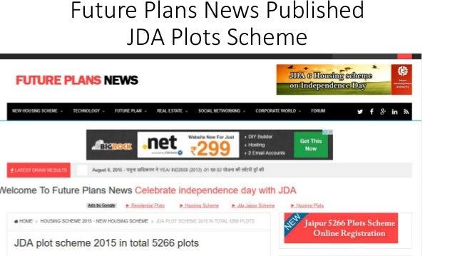 Future Plans News Published JDA Plots Scheme