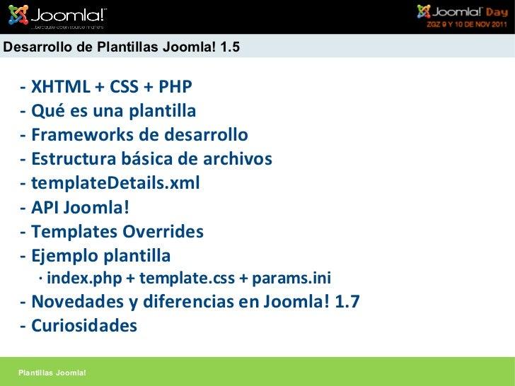 Joomla!Day 2011 España - Taller desarrollo de plantillas Joomla! - Se…