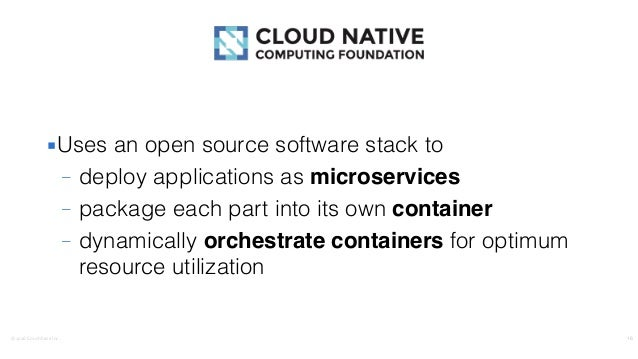 ©2016CouchbaseInc. ▪Uses an open source software stack to – deploy applications as microservices – package each part int...