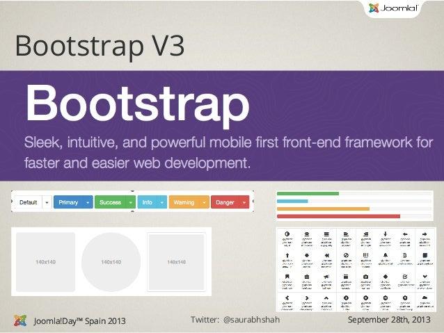 Joomla Template With Bootstrap 3 Joomladay Spain 2013