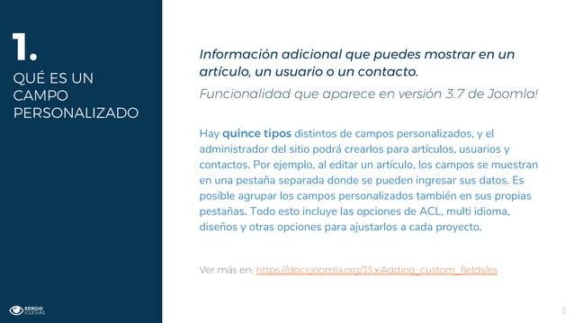 Información adicional que puedes mostrar en un artículo, un usuario o un contacto. Funcionalidad que aparece en versión 3....