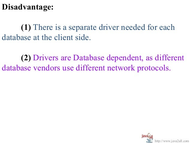 Jdbc Architecture And Driver Types Ppt