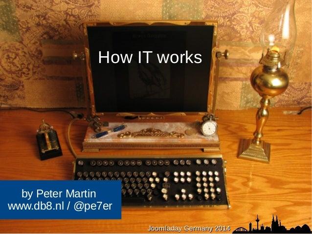 How IT works  JJoooommllaaddaayy JJoooommllaaddaayy DDeeuuttsscchhllaanndd GGeerrmmaannyy 22001144  by Peter Martin  www.d...
