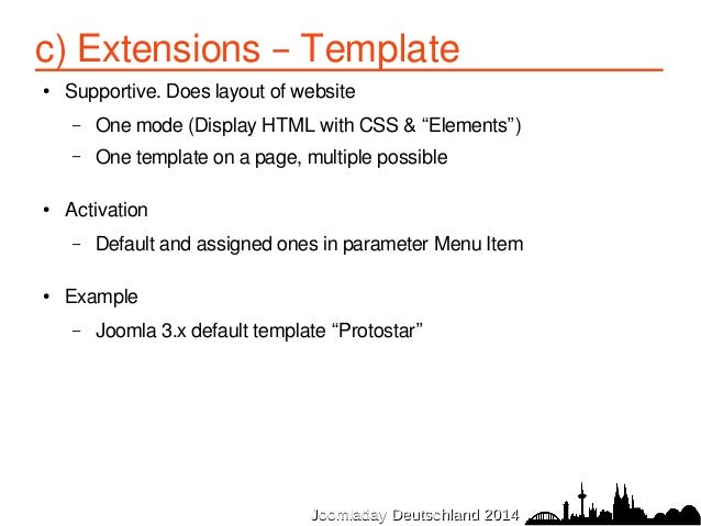 Troubleshooting joomla problems joomladay germany 2014 for Protostar template layout