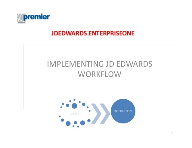 Jdedwards EnterpriseOne Implementing Workflow