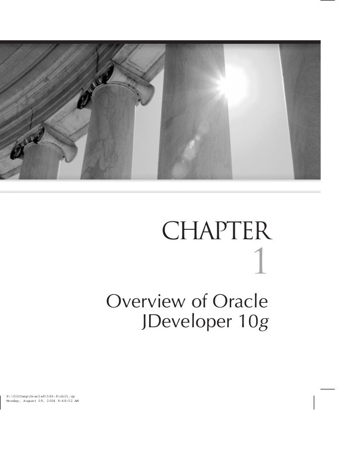 CHAPTER                1Overview of Oracle   JDeveloper 10g