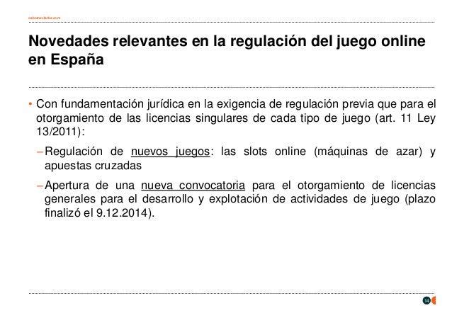 La regulaci n del juego online en espa a for Diferencia entre licencia de apertura y licencia de actividad