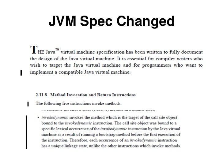JVM Spec Changed<br />