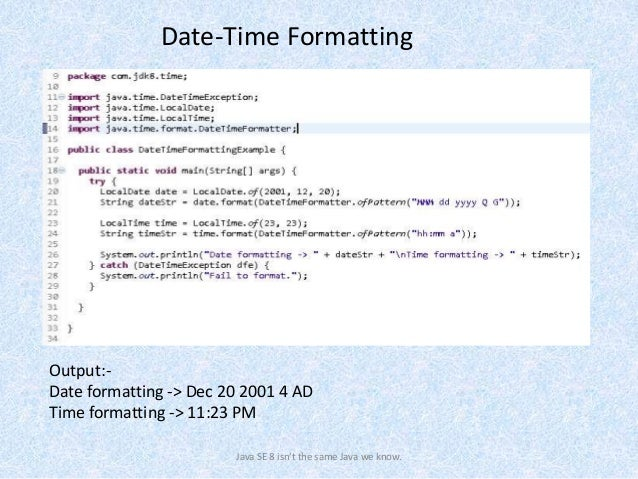 Java 8 Date-Time API