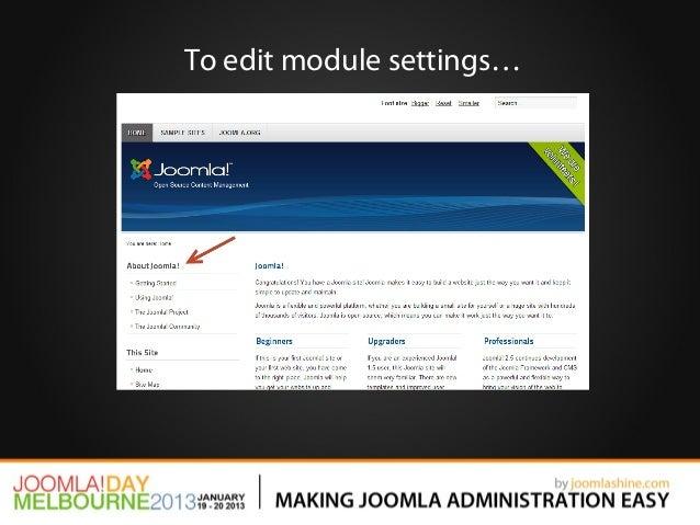 To edit module settings…