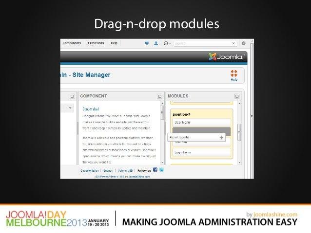 Drag-n-drop modules