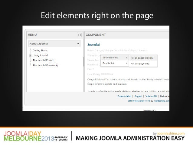 Edit elements right on the page