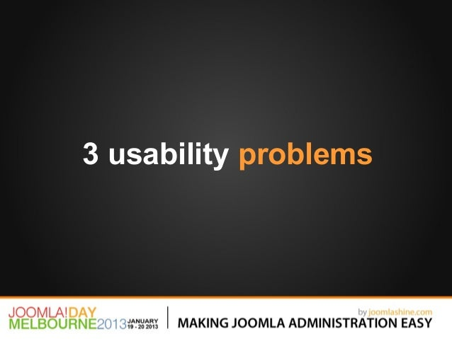 3 usability problems