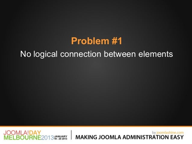 Problem #1No logical connection between elements
