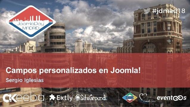 Campos personalizados en Joomla!