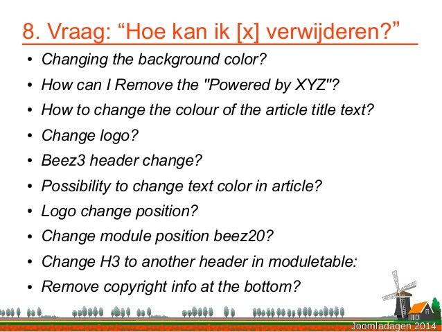 Problemen oplossen in Joomla - Joomladagen 2014 slideshare - 웹