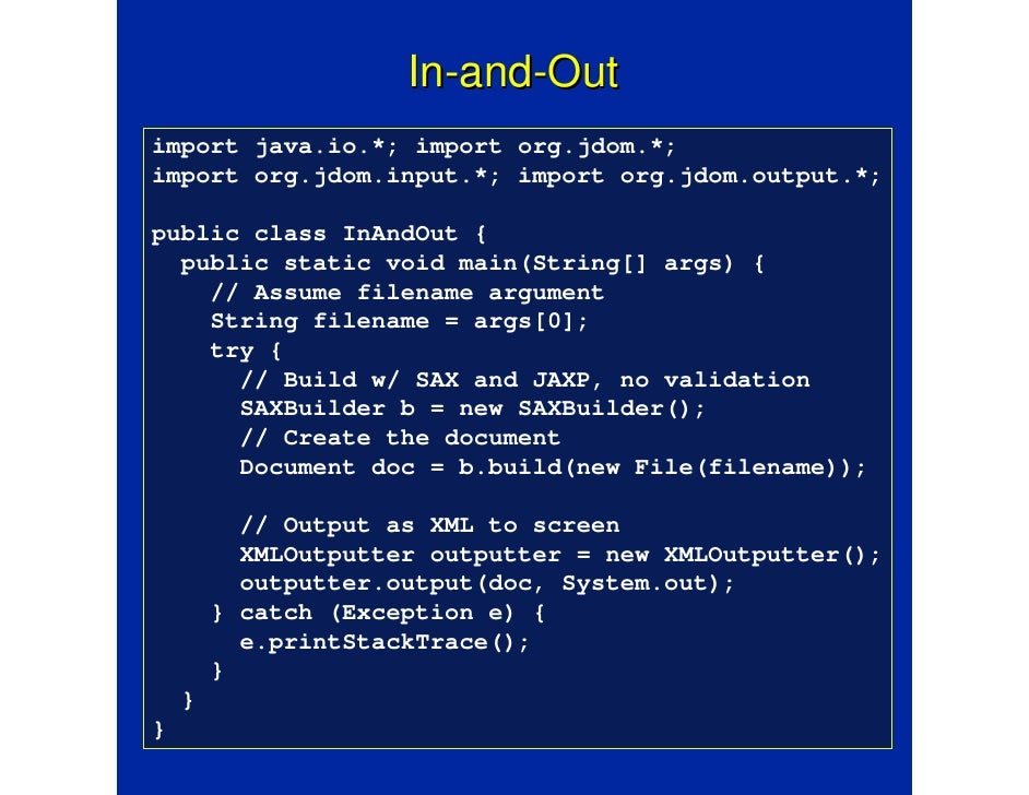 Jdom how it works & how it opened the java process