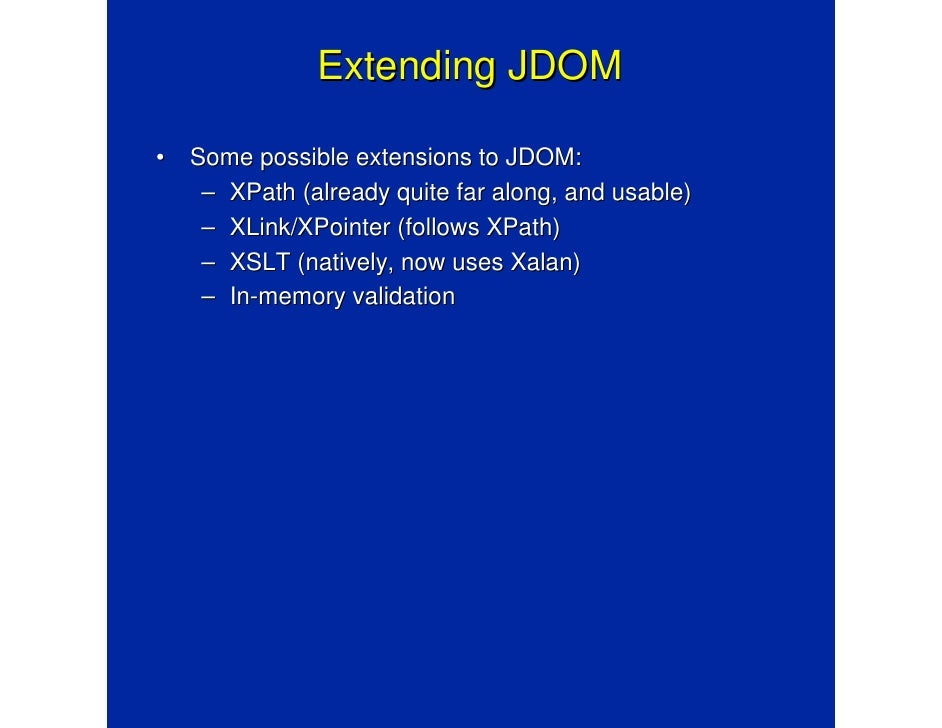 jdom how it works amp how it opened the java process