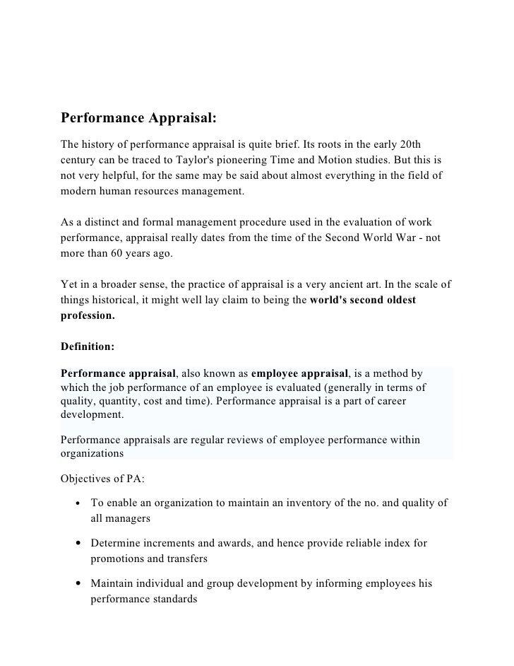 job description d performance appraisal