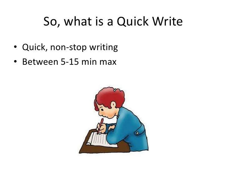 Jd quick writes Slide 2