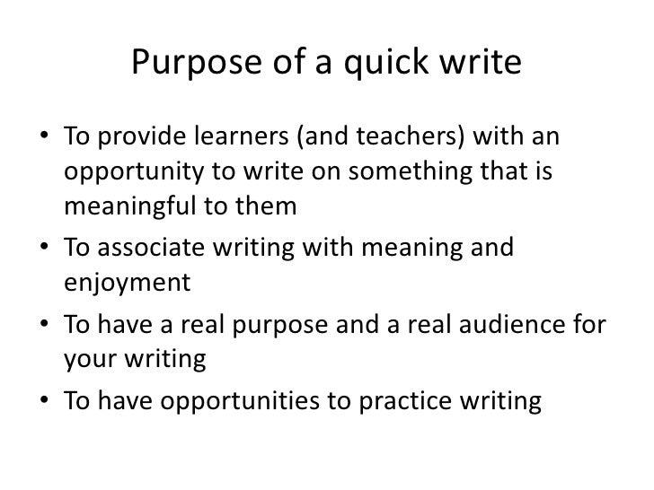 Jd quick writes Slide 3