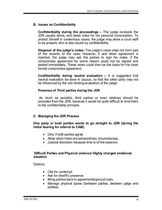 Judicial Dispute Resolution Guide