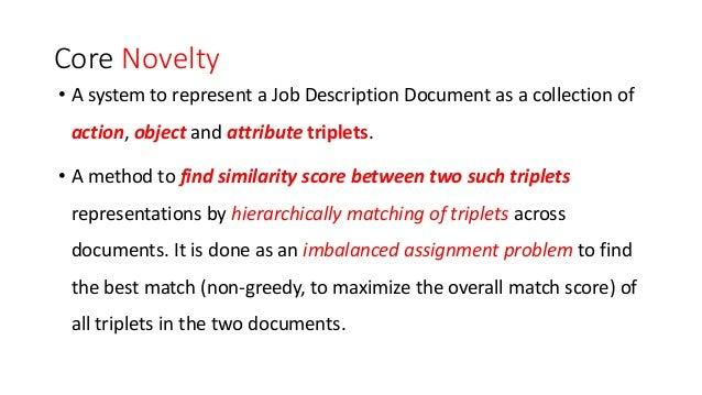 Benchmarking of a Novel POS Tagging Based Semantic Similarity Approach for Job Description Similarity Computation