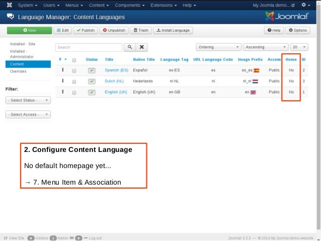 joomla manually set language by php
