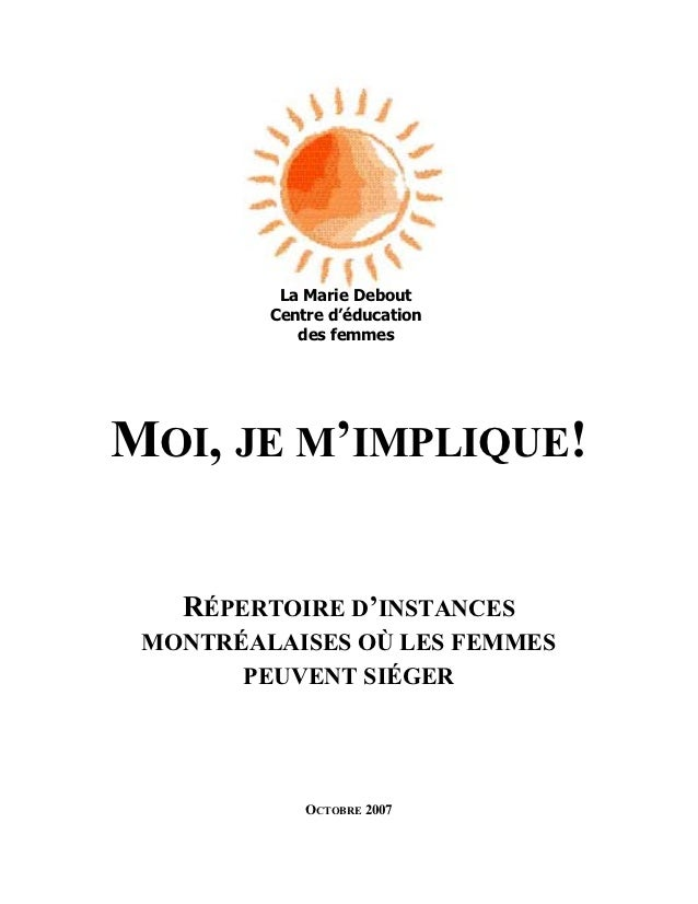 1          La Marie Debout         Centre d'éducation            des femmesMOI, JE M'IMPLIQUE!   RÉPERTOIRE D'INSTANCES MO...