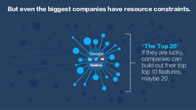 "But even the biggest companies have resource constraints. ""The Top 20"" If they are lucky, companies can build out their to..."