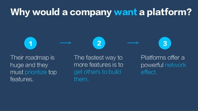 Their roadmap is huge and they must prioritize top features. Why would a company want a platform? Platforms offer a powerf...