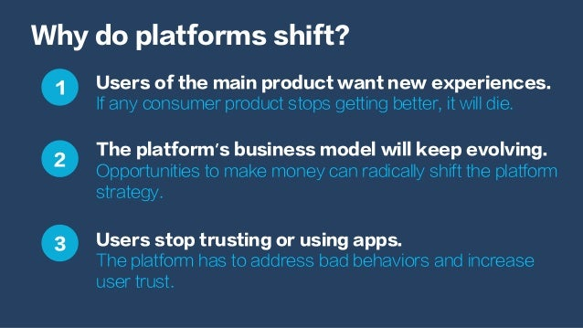 Why do platforms shift? Users of the main product want new experiences. If any consumer product stops getting better, it w...