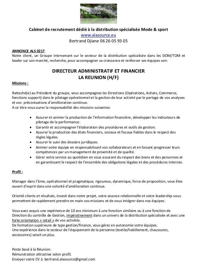 Opportunité Professionnelle Poste De Directeur