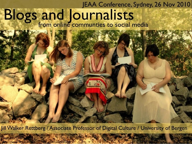 Blogs and Journalists: From Online Communities to Social Media