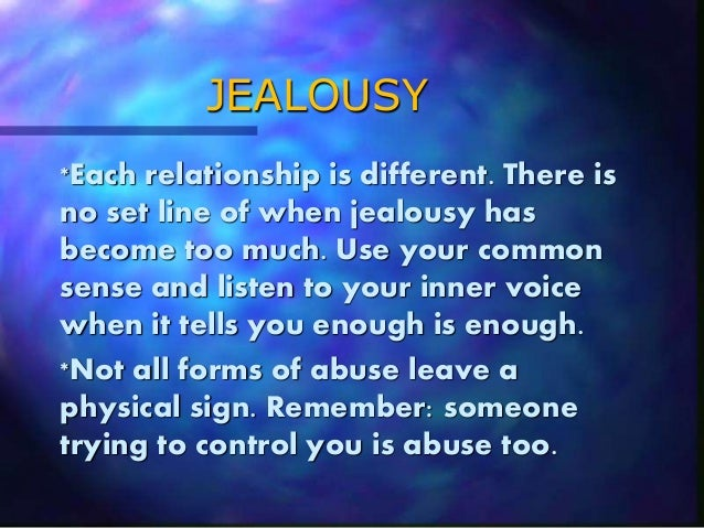 How to control your jealousy in a relationship