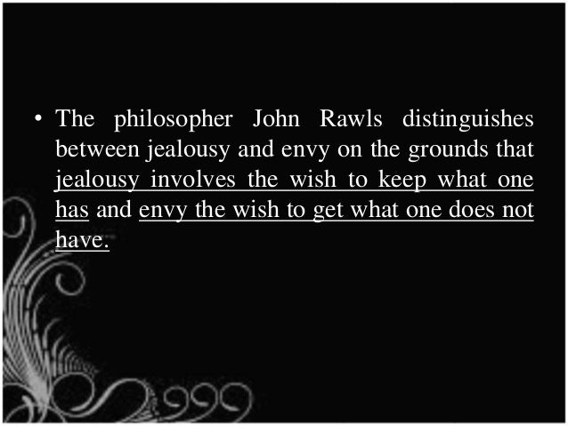 Difference between envy and jealousy