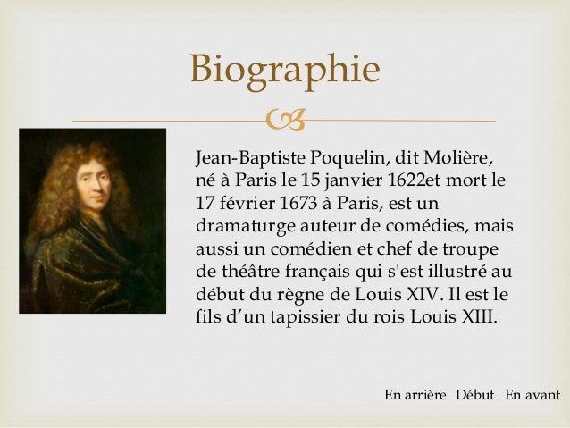 biographie de moliere en 10 lignes
