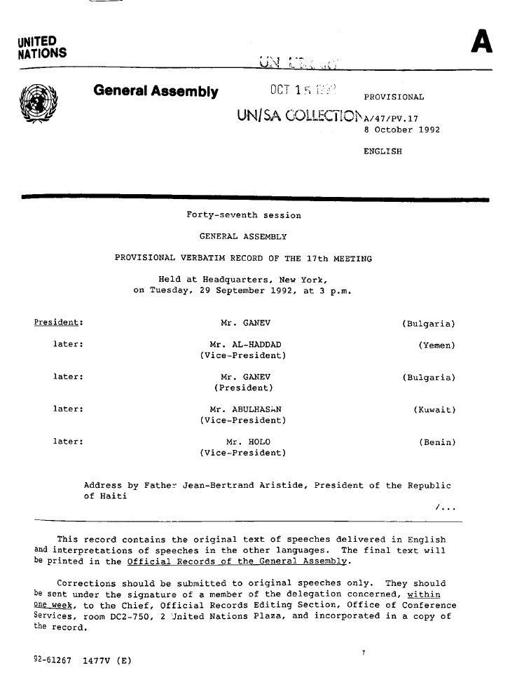 UNITEDNATIONS                                                UM r~..               General Assembly                     0C...