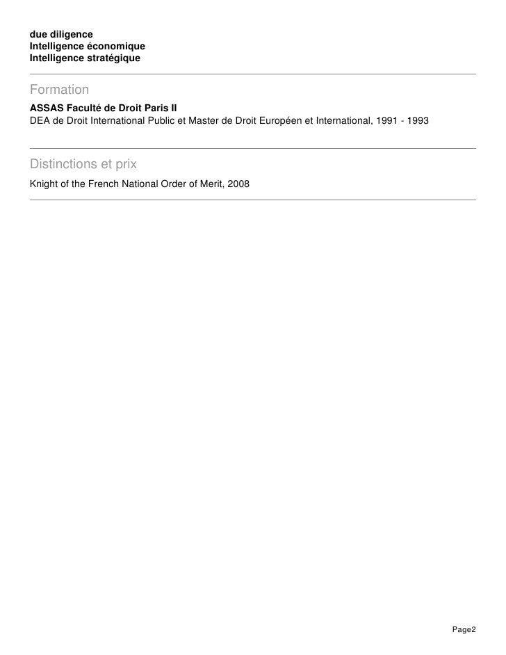 due diligenceIntelligence économiqueIntelligence stratégiqueFormationASSAS Faculté de Droit Paris IIDEA de Droit Internati...