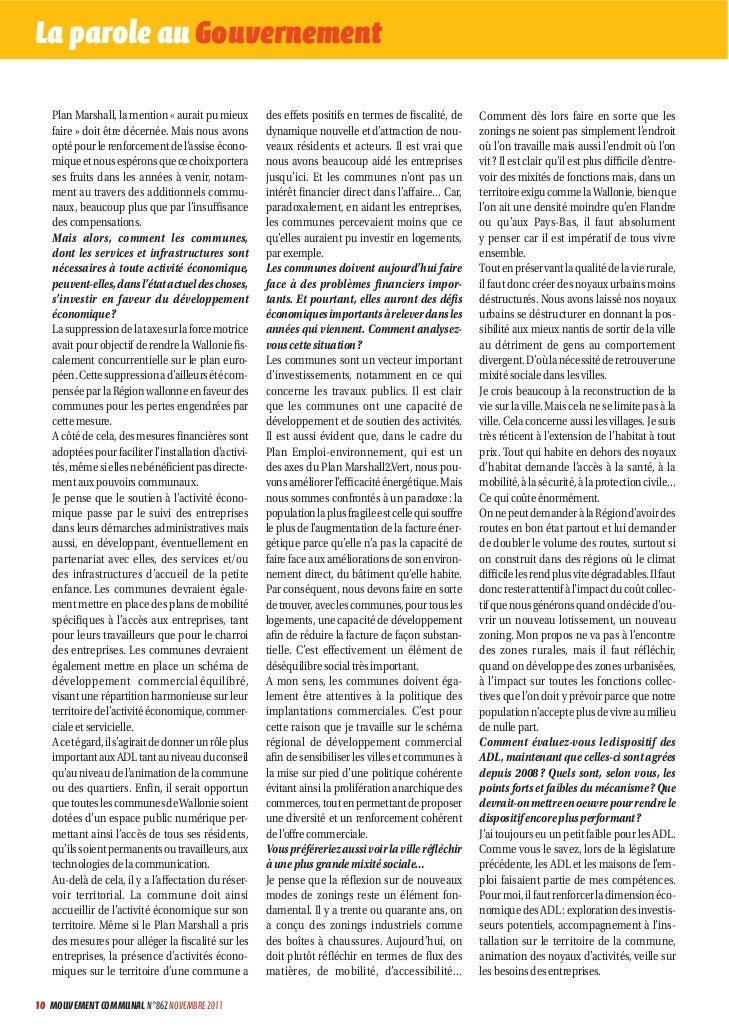 """Jean claude marcourt, vice-président, ministre de l'économie, des pme, du commerce extérieur, des technologies nouvelles et de l'enseignement supérieur - """"Basculer du fatalisme antérieur à un optimisme futur"""" Slide 3"""