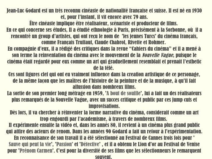 Jean Luc Godard Slide 3