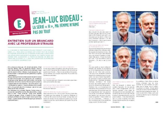 Straus Brancard Un Avec Le Bideau Entretien Luc Sur Professeur Jean WEHIbe2Y9D