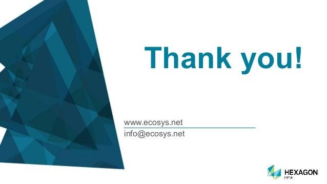 Thank you! www.ecosys.net info@ecosys.net